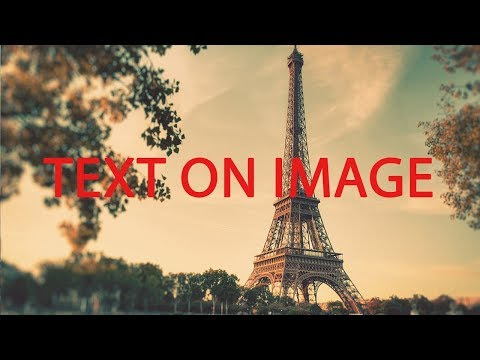 How To Write Text On Image Using  HTML And CSS