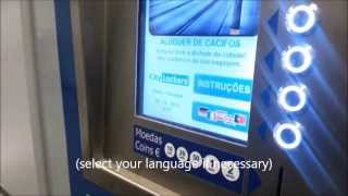 Left Luggage Lockers Lisbon - Rossio metro station - how to deposit