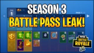 FORTNITE SEASON 3 BATTLE PASS LEAKED! NEW GUN, SKINS, TRAILS, & MORE!
