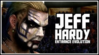 History Of Jeff Hardy In WWEGames - Jeff Hardy Entrance Evolution! (Smackdown - SVR 2010)