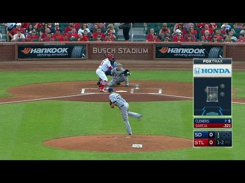 SD@STL: Clemens gets his first strikeout of the game
