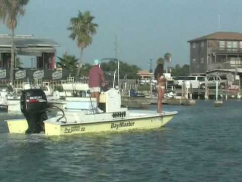 Lisa goes fishing on South Padre Island Texas