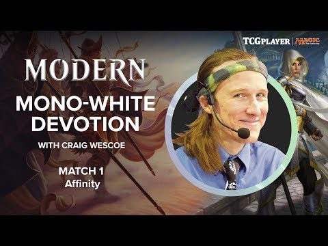 [MTG] Modern Mono-White Devotion | Match 1 VS Affinity