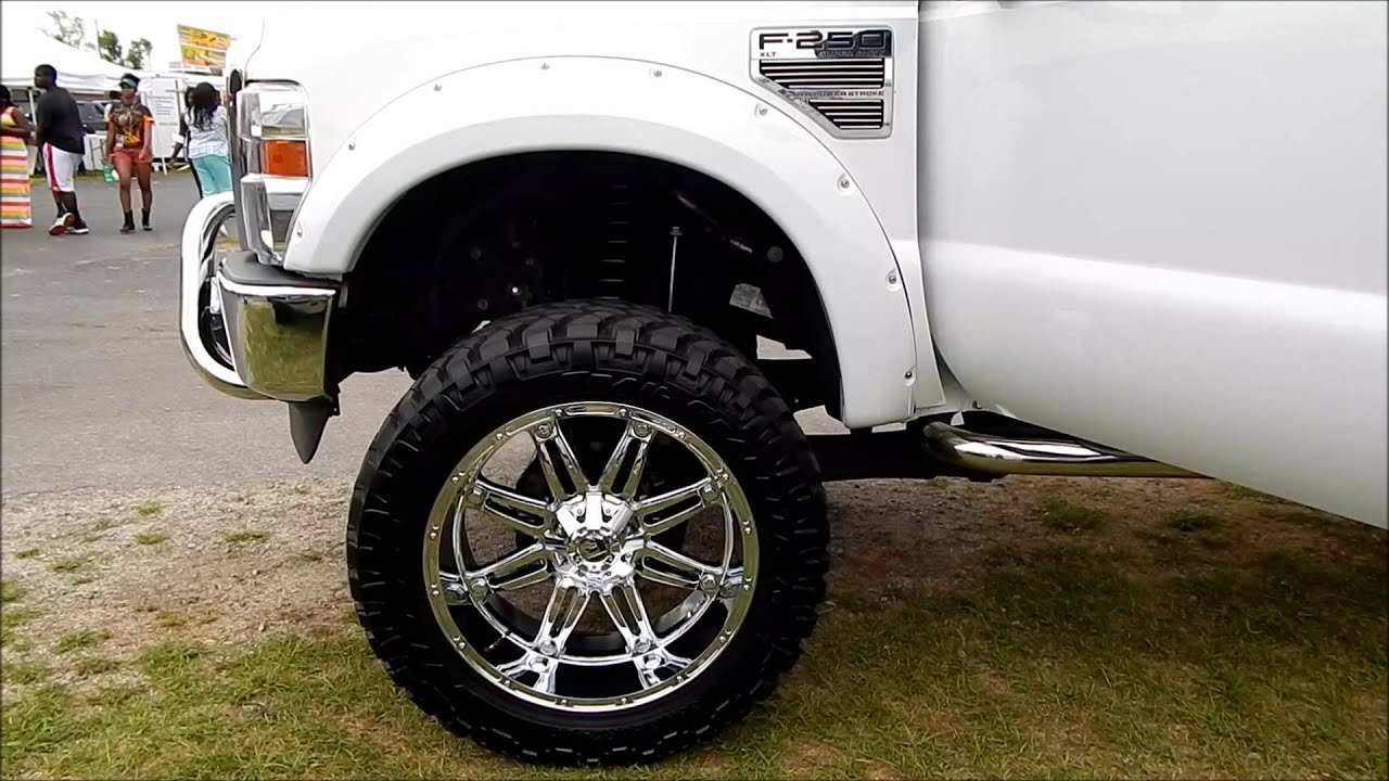 Big Truck Wheels 24 5 : Lifted ford f superduty on s with quot tires at