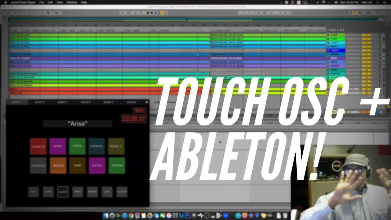 Using touchosc to control ableton live arrangement for Touchosc templates ableton