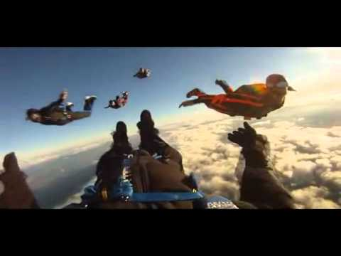"""Skydiving """"Tracking Jump"""" by Kuwaiti Skydiver"""