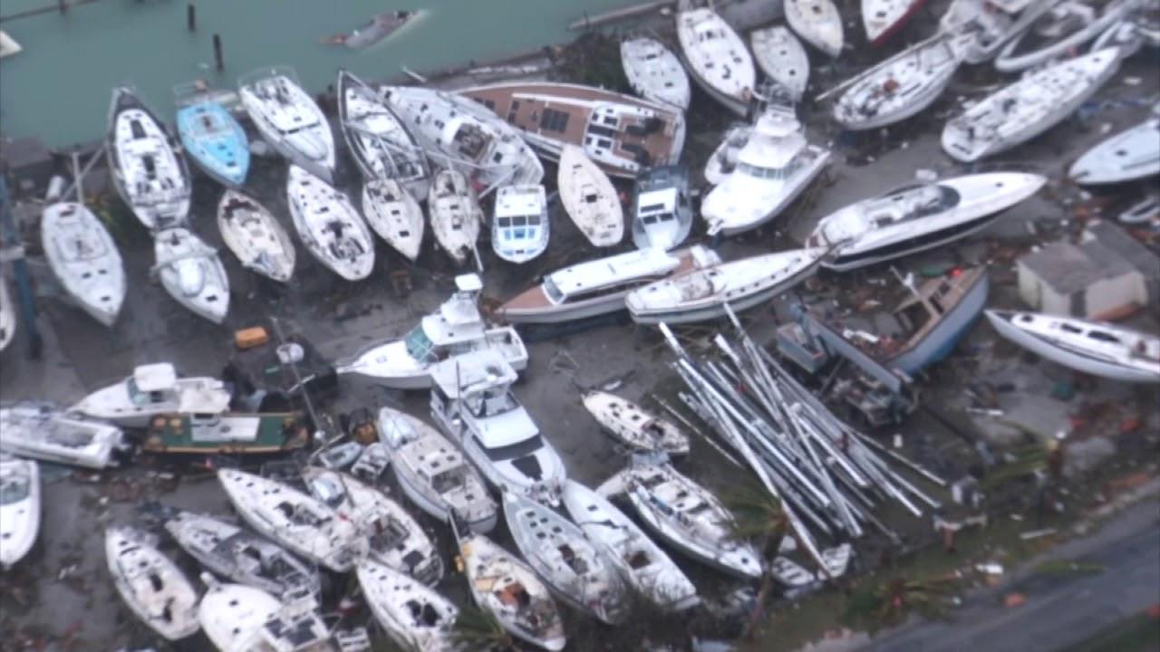 aerial footage shows devastation