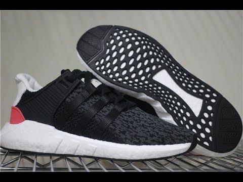 5ea1fe38b2c7 God Adidas EQT SUPPORT 93 17 BB1234 black turbo - YouTube