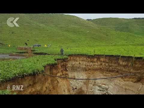 Giant sinkhole opens up after record rain in Rotorua: RNZ Checkpoint