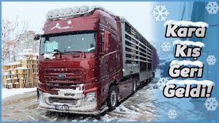 Kardan Dolayı Yolda Kaldım ! / Hakan'ın İlk Takoğraflı Sürüşü - KARA KIŞ GERİ GELDİ