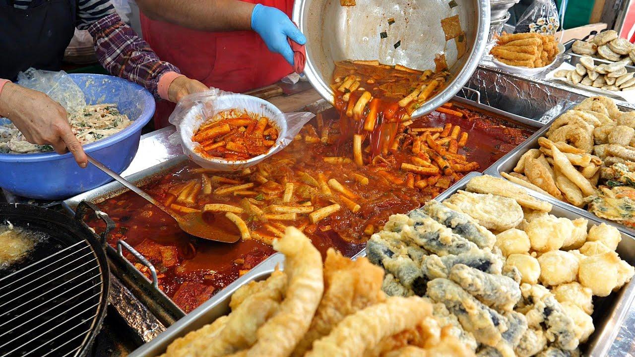 밀떡파의 성지? 하루 12판 나가는 역대급 밀떡 떡볶이! 수제튀김, 순대, 분식맛집 / spicy rice cake Tteokbokki / Korean Street Food