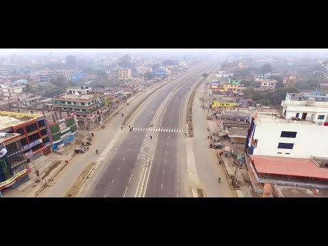 Amazing Road Of Nepal Butwal  || Drone Shots || Butwal On Strike || Empty Road