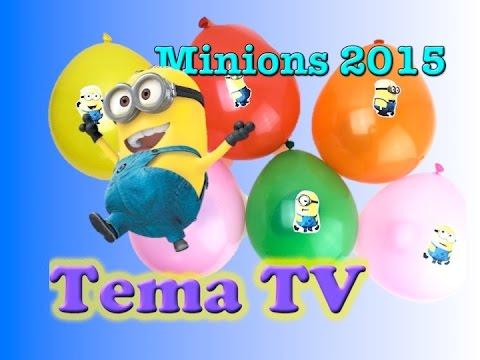 Лопаем шарики с сюрпризами Миньоны 2015 Giant Balloons Surprise Eggs Minions