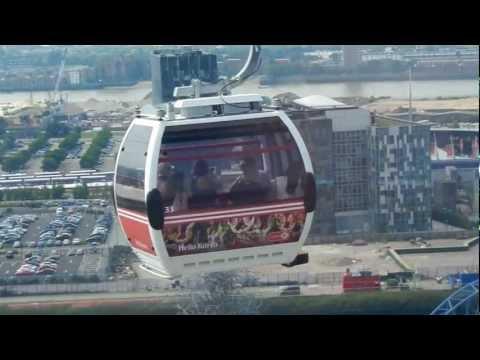 Zicara u Londonu - pogled/ Emirates cable car London - view