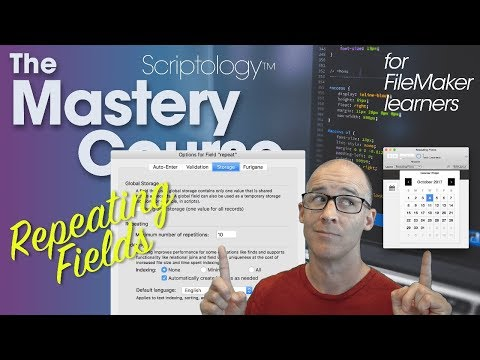 Lesson #8: Fields & Calculations - Repeating fields - Scriptology Mastery Course FileMaker