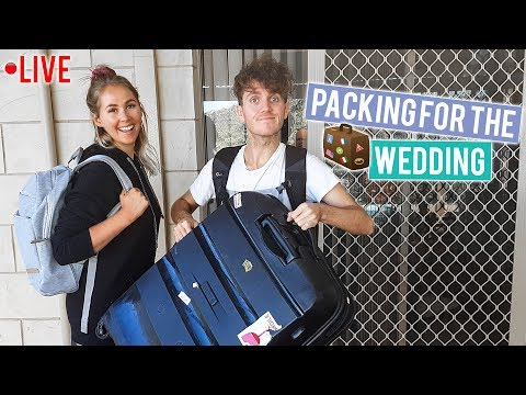 [Live Show] Packing For The Wedding - We Leave Tonight! ✈️