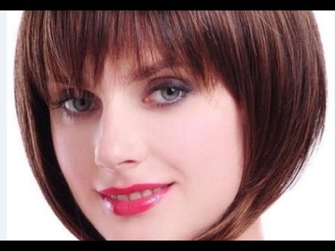 Short Bob Hairstyles For Fine Hair With Bangs Youtube
