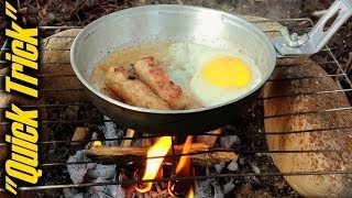 "Easy Campfire Cooking Cleanup - ""Quick Trick"""