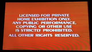 Opening To The Happiest Millionaire 1986 VHS