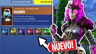 **NEW SECRET SKIN** MAXIMUM LEVEL VALQUIRIA!! CHANGE COLOR FORTNITE Battle Royal