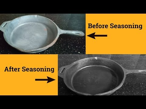 Cast Iron Skillet Seasoning in Tamil | Skillet Seasoning with Salt