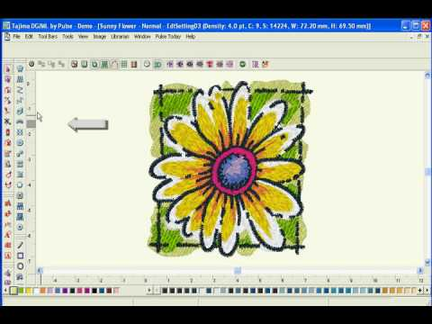 Ease of use - Tajima DGML by Pulse Embroidery Software