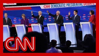 2020 Democratic presidential candidates clash on health care