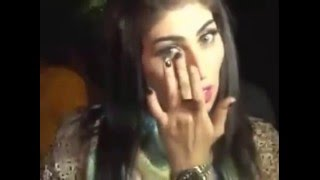 qandeel baloch caught carying in lahore outside pti jalsa