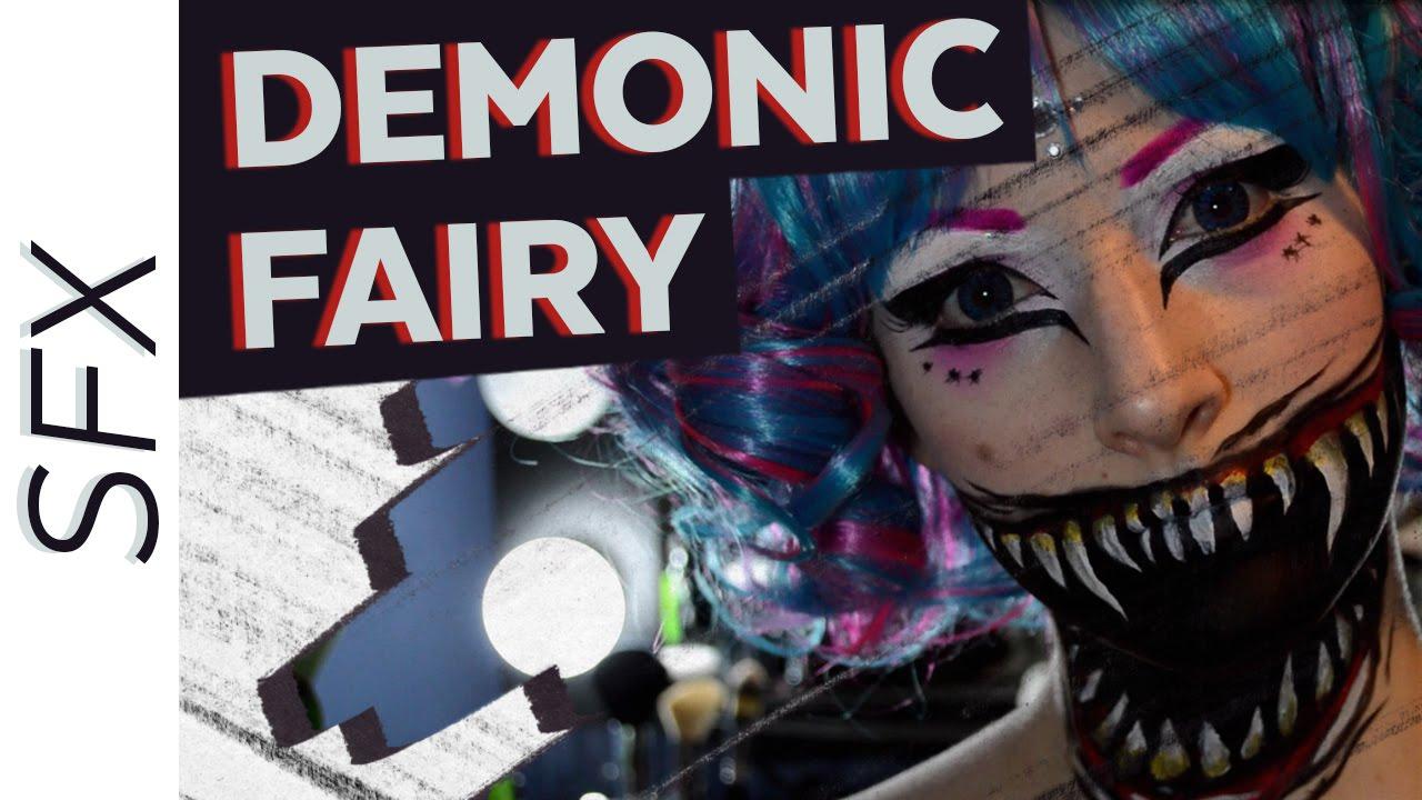 Creepy cute demonic fairy sfx halloween makeup tutorial youtube baditri Image collections