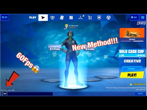 How To Get 60Fps New Method Fortnite Mobile!!! (Chapter 2)