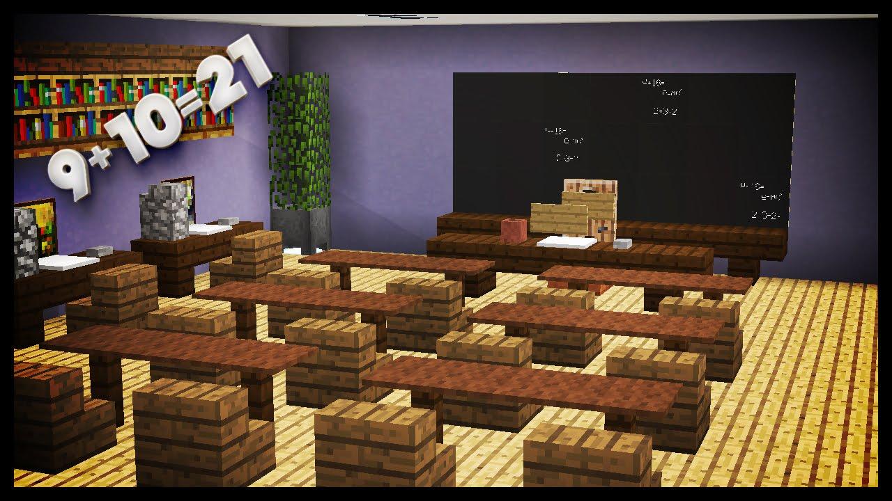 Minecraft - How To Make A Classroom