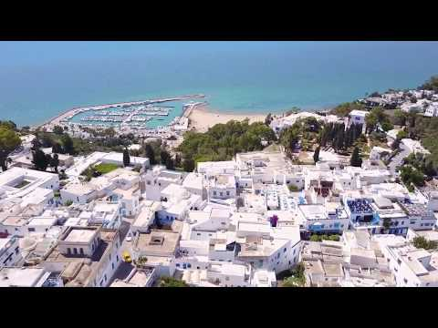 Sidi Bou Said (with drone) سيدي بو سعيد