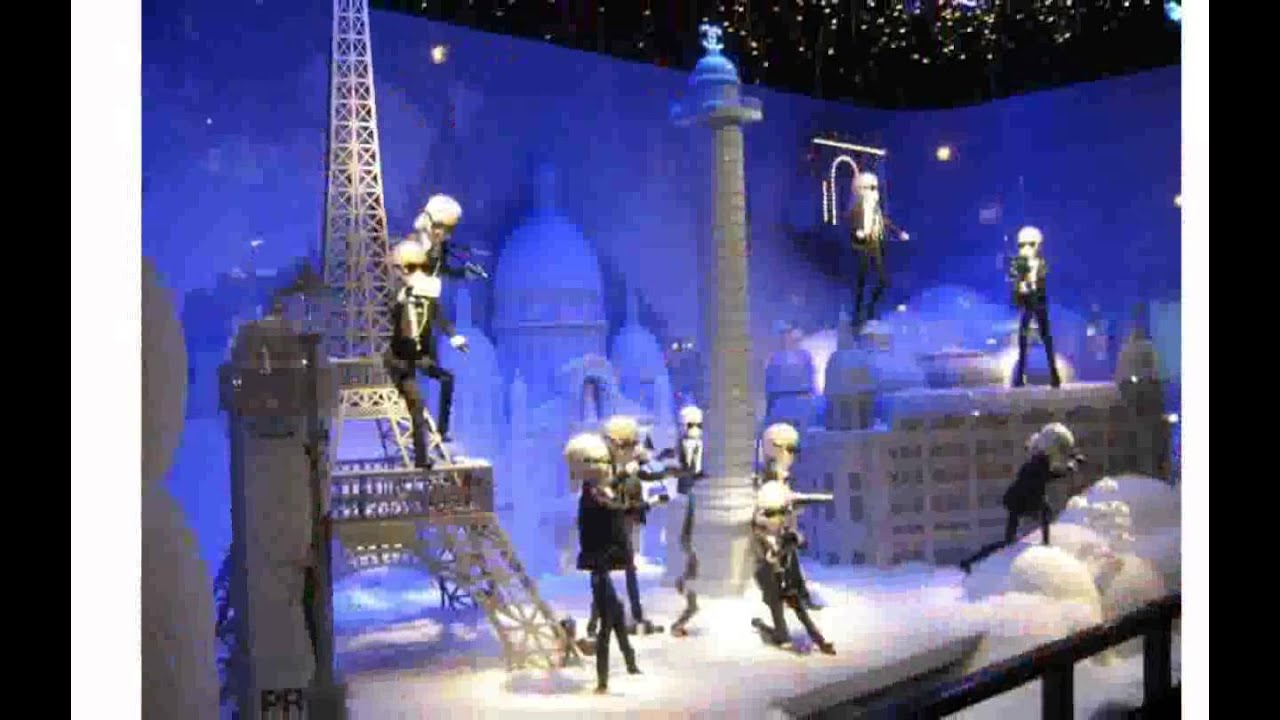 Decoration de vitrine youtube for Decoration vitrine noel exterieur
