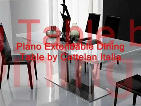 Modern Gl Top Extension Dining Tables Italian Designer You