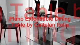 Modern Glass Top Extension Dining Tables,Modern Italian Dining Tables,Designer.