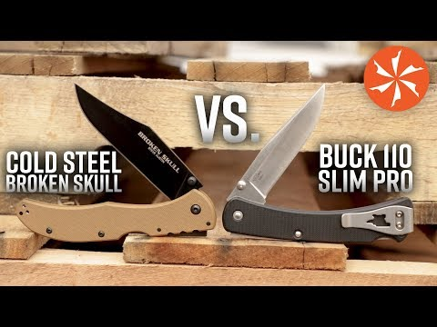 Cold Steel Broken Skull Vs.  Buck 110 Slim Pro (Battle Of The Lock Back Folding Knives)