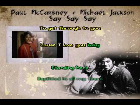 Say Say Say (Paul McCartney & Michael Jackson) Karaoke