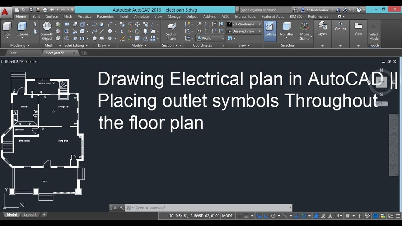 Drawing Electrical Plans In Autocad Placing Outlet Symbols