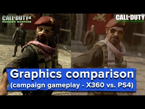 Modern Warfare Remastered graphics comparison - full game  (X360 vs. PS4)