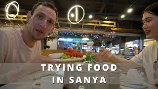 trying local food in SANYA Hainan