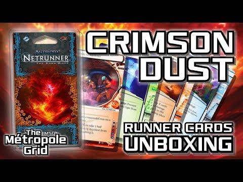 Netrunner Unboxing: Crimson Dust - Runner Cards
