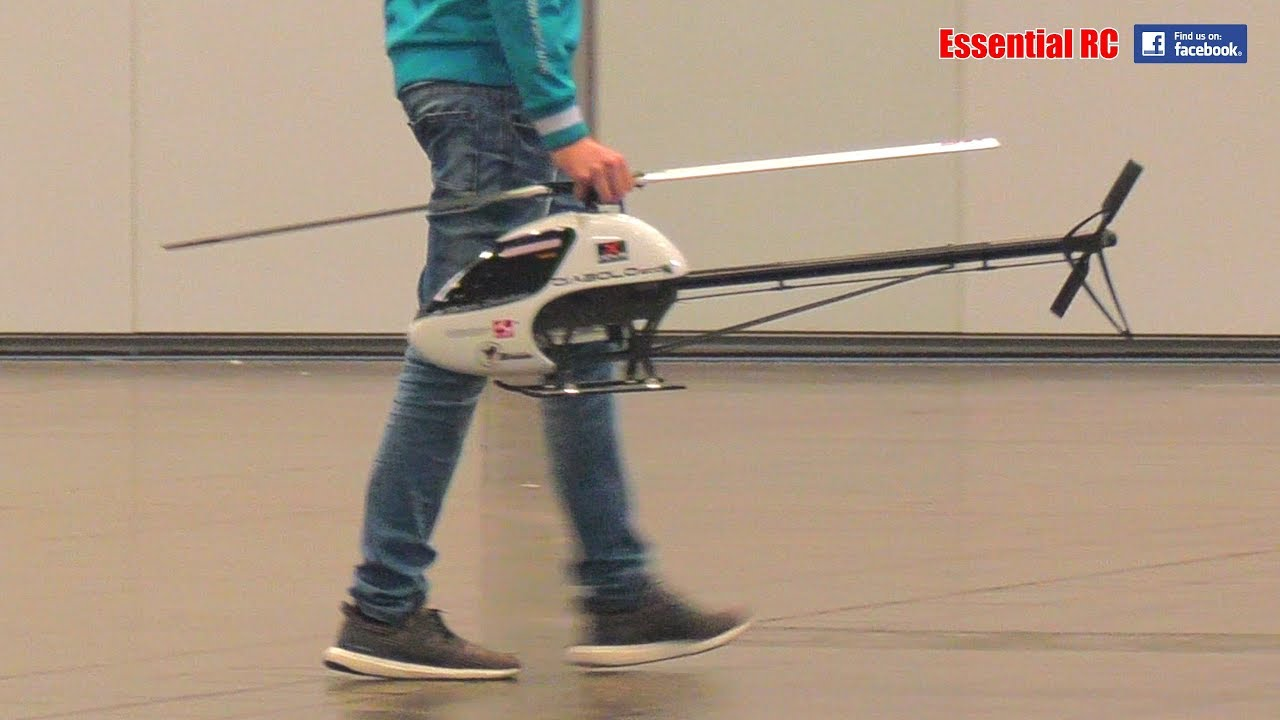 BIG 3D aerobatic RC HELICOPTER FLYING   BUT INDOORS !?