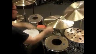 Remo CS Black Dot Heads on Toms and Bassdrum