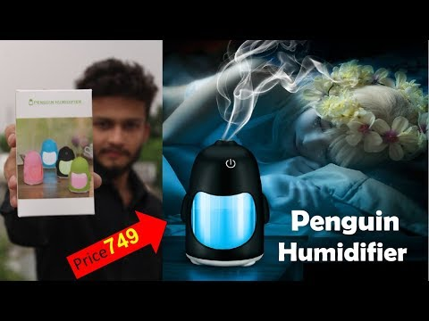 {hindi}-150ml-creative-penguin-humidifier-with-7-color-changing-led-for-office-desk/-bedroom/-travel