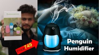 {HINDI} 150ml Creative Penguin Humidifier with 7 Color Changing LED for Office Desk/ Bedroom/ Travel