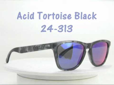 oakley frogskins acid tortoise blue sunglasses  oakley frogskins acid tortoise black 24 313 collectors editions sunglasses