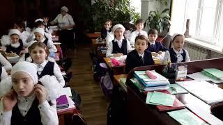 г.Грозный ,4А класс гимназии 1,на уроке искусства.18 декабря 2017