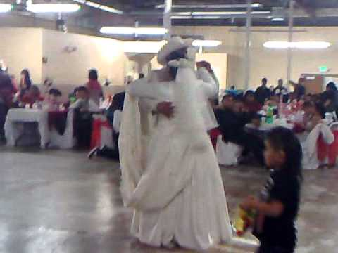 The Mexican Wedding Bride And Groom Dance