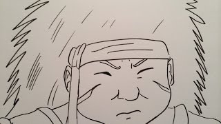 How to draw Chouza Chōza Akimichi (Choji father).秋道チョウザ描き方.