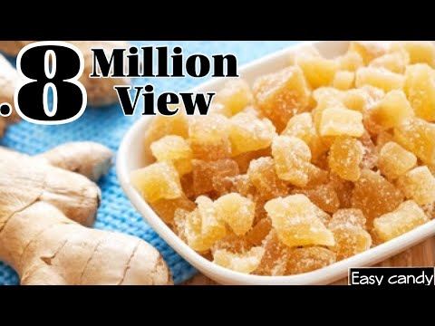Ginger Candy Recipe | Candied Ginger Recipe | Injji Mittayi | Easy Candy Recipe | Homemade
